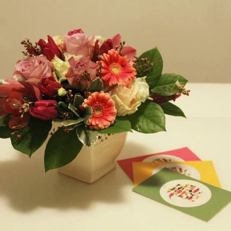 Aranjament floral colorat