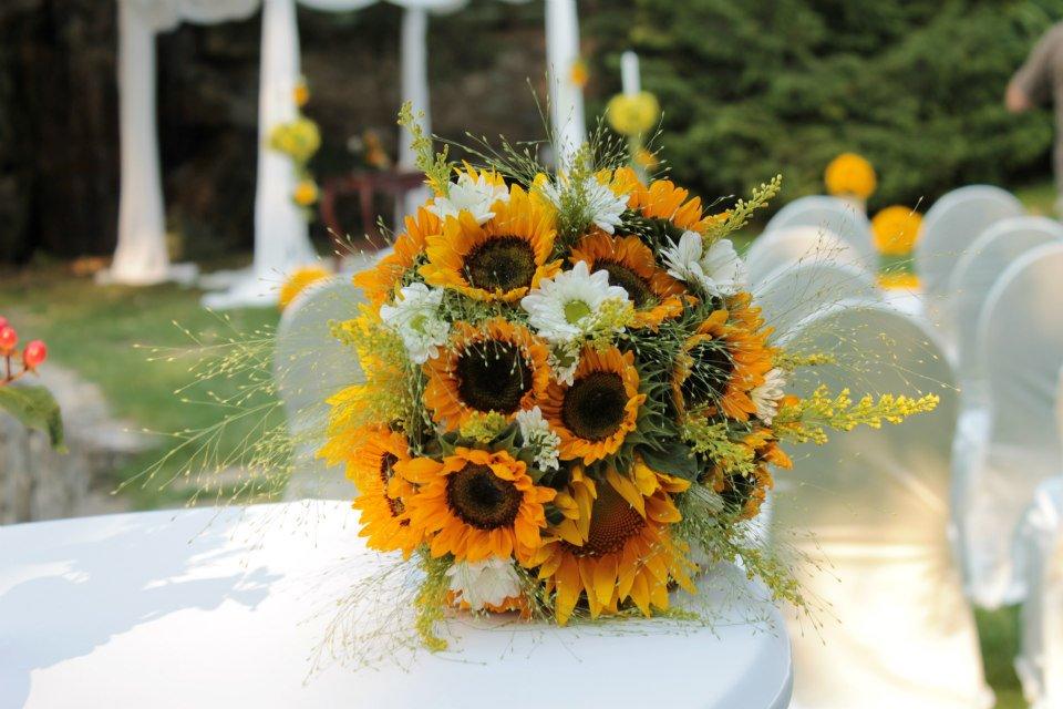 Buchet De Mireasa Floarea Soarelui Enrose
