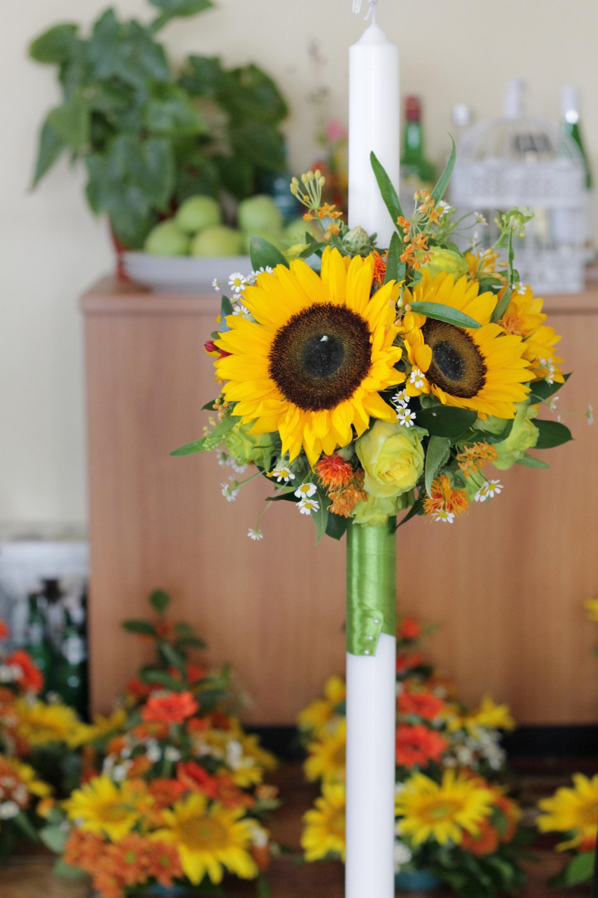 Lumanari De Cununie Floarea Soarelui Enrose