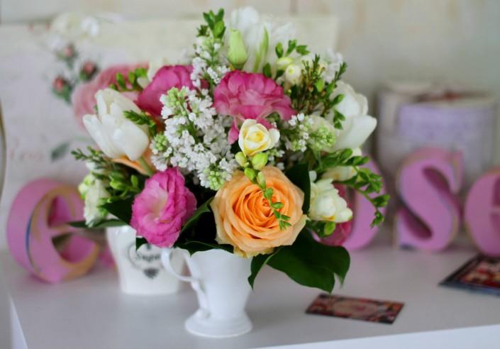 aranjament floral cescuta inflorata