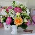 aranjament floral cescuta trandafiri