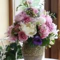 Aranjament floral cu bujori