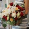aranjament cu trandafiri si orhidee Simfonie