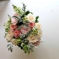 buchet trandafiri ornithogalum