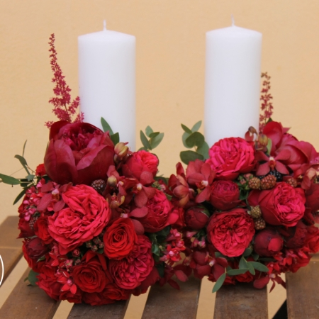 Lumânări de cununie Ruby red