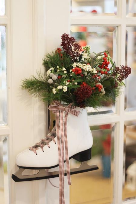 Aranjament de iarna cu patina