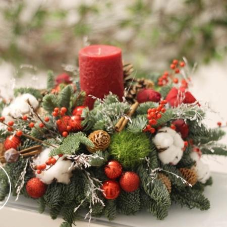 Aranjament de Crăciun Rondel de iarnă