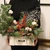 Aranjament de iarna cutie Happy Holidays