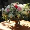 Aranjament floral deosebit în cupă antichizată