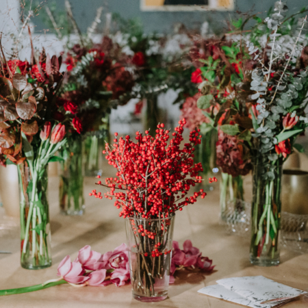 design floral spicy red workshop enrose