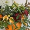 dovleac decorat cu flori proaspete