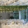 tavan cu flori suspendate decor nunta
