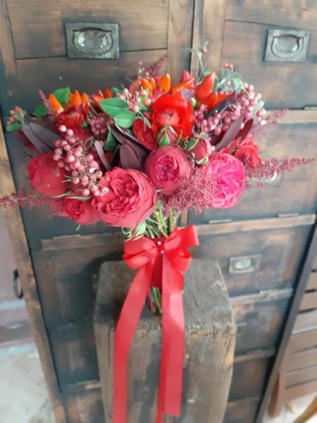 Buchet de mireasă roșu Spicy RedBuchet de mireasă roșu Spicy Red