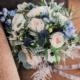 buchet de mireasa albastru clasic