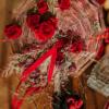 Buchet structural de mireasă Hibiscus Red
