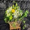 terariu cu instalație led și flori naturale FLORENCE