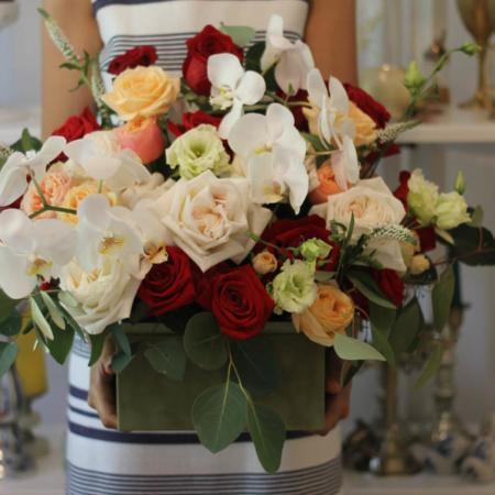 Aranjament floral romantic Dame de Coeur