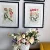 Aranjament floral în vas de porțelan Maria Tereza