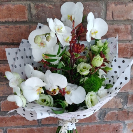 Buchet cu orhidee albă Aida