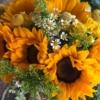 Buchet de mireasă cu floarea soarelui Elysium
