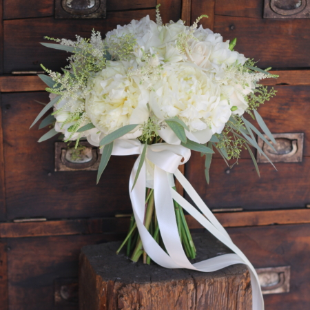 Buchet de mireasă all white La dolce vita