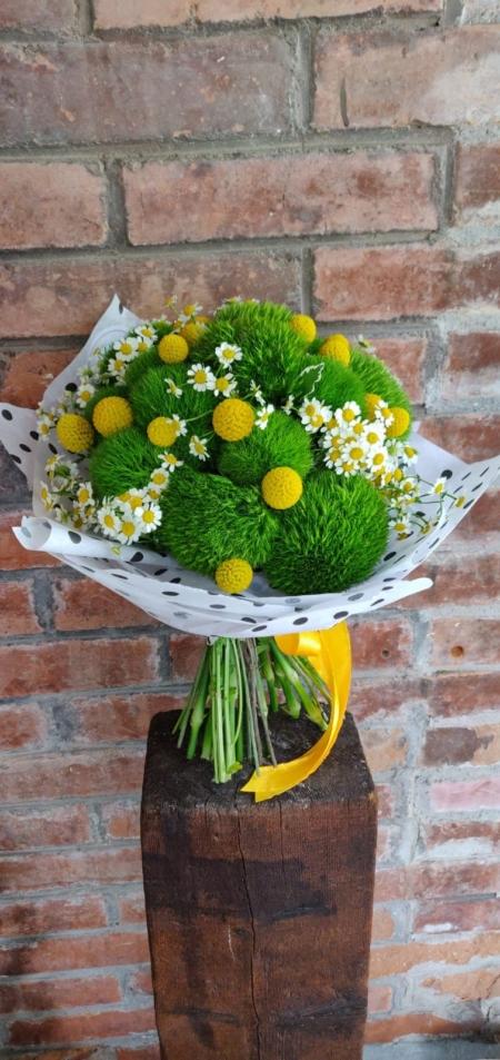 Buchet fresh cu flori verzi Wembley