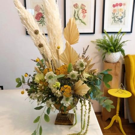 Aranjament floral cu pampas și flori uscate Marie Antoinette