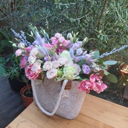 Geantă de vară cu flori proaspete Costa del Sol