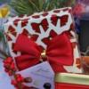 Cutie cadou de Crăciun Merry Red