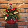Decor de Crăciun în ceainic roșu Magic Tea
