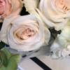 buchet delicat cu flori albe și roz Pastel iubit