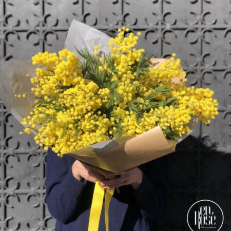 Buchet de flori cu mimoză Yellow Crush