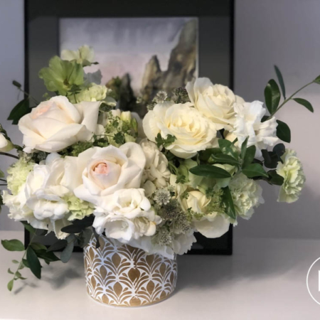 aranjament floral în vas auriu Marie Claire